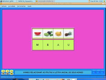 Imagem da atividade desenvolvida no software Jclic