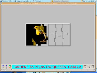 Imagem de atividade feita no Jclic