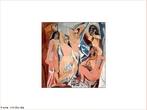 Imagem da pintura cubista &quot;Les Demoiselles d Avignon&quot;, uma das principais obras de Pablo Picasso, influenciada pela cultura africana e ib�rica. Essa imagem pode ser utilizada pelo professor para explorar os elementos do movimento cubista, que, refletido em outras artes como a literatura, viveu seu primeiro momento com um manifesto assinado por Guillaume Apollinaire. Essa literatura valoriza a proposta da vanguarda europeia que influenciou Oswald de Andrade na d�cada de 1920 e, posteriormente, na d�cada de 1960, a chamada poesia concreta.    <br /><br />  Palavras-chave: Cubismo. Picasso. Literatura. Vanguarda. Pintura.