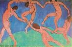 A tela &quot;A Dan�a&quot;, de Henri Matisse, retrata a capacidade que o artista tem de expressar, por meio de tra�os e cores, a impress�o de volume, profundidade e movimento. Essa obra foi concebida quando o artista se libertou do movimento Fauvismo, voltando-se para a esquematiza��o das figuras, evoluindo para o equil�brio entre a cor e o tra�o em composi��es planas, sem profundidade, e explorarando o ritmo das curvas. <br /><br /> Palavras-chave: Dan�a. Tra�os. Impress�o. Movimento. Fauvismo.