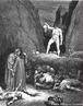 Imagem da ilustra��o de Gustave Dor�, do s�culo XIX, referente ao Canto XXVIII de &quot;A Divina Com�dia&quot;. Nesta imagem Bertran de Born � condenado a ter a cabe�a separada do corpo para sempre, por ter causado a separa��o de pai e filho. A imagem pode ser utilizada para se trabalhar com a obra de Dante, especialmente, o &quot;Inferno&quot;, primeiro dos tr�s longos poemas que formam a com�dia. <br /><br />  Palavras-chave: Inferno. Poemas. Com�dia. Dante Alighieri. Bertran de Born.