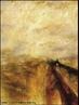 Imagem da pintura de J.M.W Tuner, &quot;Chuva, vapor e velocidade&quot;, de 1844 (�leo sobre tela, 91 x 122 cm). Imagem foi retirada do Livro Did�tico P�blico do Estado do Paran�, utilizada para iniciar o cap�tulo 7, intitulado &quot;Sobre a modernidade ou como ler um Livro&quot;.  <br /><br /> Palavras-chave: Chuva. Vapor. Modernidade. Wiliam Turner.