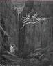 Imagem da ilustra��o de Gustave Dor�, do s�culo XIX, referente ao Canto XXIII de &quot;A Divina Com�dia&quot;. Nesta imagem Dante e Virg�lio conseguem escapar da persegui��o dos dez dem�nios que os escoltavam. A imagem pode ser utilizada para se trabalhar com a obra de Dante, especialmente, o &quot;Inferno&quot;, primeiro dos tr�s longos poemas que formam a Com�dia.  <br /><br /> Palavras-chave: Inferno. Poemas. Cantos. Divina com�dia. Dante Alighieri. Dem�nios.