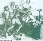 Imagem do desenhista Jacques Etienne Arago, do s�culo XIX, que mostra escravos matando seu senhor. O professor pode utilizar a imagem para contextualizar historicamente o per�odo rom�ntico. E ainda mencionar o Artigo 1�, da lei de 10 de junho de 1835 (Governo Regencial), que trata da puni��o com pena de morte aos escravos ou escravas que matassem ou fizessem qualquer outra grave ofensa f�sica a seu senhor, seu dono.  <br /><br /> Palavras-chave: Escravos. Senhor. Castitgo. Romantismo. Lei. Puni��o. Assassinato.