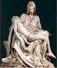 Imagem de &quot;Piet�&quot; do Vaticano, esculpida em m�rmore por Michelangelo em 1499, e est� localizada no interior da Bas�lica de S�o Pedro, em Roma. Essa obra foi influenciada pelos ideais est�ticos helen�sticos, em que o artista utilizou enormes blocos de m�rmore, deixando-a com grande porte e beleza.  <br /><br /> Palavras-chave: Piet�. Michelangelo. Helen�sticos. Escultura. M�rmore.