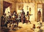 Imagem de Johann Moritz Rugendas, desenhista documentarista, de 1825, que representa a habita��o dos fazendeiros. A imagem pode ser utilizada para contextualizar o per�odo liter�rio Rom�ntico.  <br /><br /> Palavras-chave: Rugendas. Fazendeiro. Escravo. Romantismo.