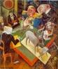 A obra pintada por George Grosz, um importante representante alem�o do Expressionismo/Dada�smo. Por meio dessa imagem o professor pode explorar os elementos desse movimento que se importava em criar palavras pela sonoridade, quebrando as barreiras do significado.  <br /><br /> Palavras-chave: Pintura. Dada�smo. Vanguarda. George Grosz. Literatura. Arte.