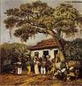 Imagem de Johann Moritz Rugendas, desenhista documentarista. Lundu, dan�a africana trazida pelos escravos, posteriormente tamb�m cantado, e ambos acompanhados por uma guitarra de arame.  <br /><br/> Palavras-chave: Rugendas, desenhista, documentarista, Lundu, dan�a africana, escravos.
