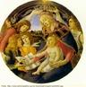 Pintado, em 1485, pelo renascentista Sandro Botticelli, a Madonna representa a coroa��o da personagem b�blica Maria, com o menino ao colo e v�rias crian�as em volta. Representa a religiosidade cat�lica e, principalmente, a venera��o � Maria.  <br /><br /> Palavras-chave: Renascen�a. Sandro Botticelli. Madonna. Religiosidade. Catolicismo.