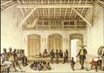 Imagem &quot;Mercado da rua Valongo&quot; (aquarela, 17,5 x 26,2 cm) do pintor franc�s Jean Baptiste Debret, utilizada no Livro Did�tico P�blico do Paran�.  <br /><br/> Palavras-chave: Debret. Escravo. Mercado. Hist�ria.