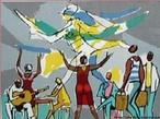 Imagem do mestre entalhador argentino Caryb�, baseda no cap�tulo hom�nimo da obra de Jorge Amado, &quot;Os Pastores da Noite&quot;. O professor pode trabalhar a obra e seu contexto hist�rico, a linguagem e tamb�m sugerir que os alunos retratem outras obras de Jorge Amado, fazendo interdisciplinariedade com a disciplina de artes.  <br /><br/> Palavras-chave: Oxum. Jorge Amado. Sincretismo. Religi�o. Literatura.