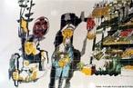 Imagem de um painel de Poty do Mercado Municipal, em Curitiba. A imagem permite que seja introduzido o estudo dos artistas pl�sticos paranaenses e sua correla��o com os momentos hist�ricos da literatura do estado. Al�m disso, � poss�vel analisar a presen�a da obra de Poty em obras do escritor mineiro Guimar�es Rosa.  <br /><br /> Palavras-chave: Poty. Painel. Literatura. Pintura.
