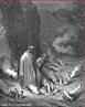 Imagem da ilustra��o de Gustave Dor�, do s�culo XIX, referente ao Canto XIX de &quot;A Divina Com�dia&quot;. Nela temos Dante conversando com o papa Nicolau III, que o confunde com o papa Bonif�cio VIII, aguardado para substitu�-lo. A imagem pode ser utilizada para se trabalhar com a obra de Dante Alighieri, especialmente, o &quot;Inferno&quot;, primeiro dos tr�s longos poemas que formam a Com�dia. <br /><br /> Palavras-chave: A divina com�dia. Inferno. Canto. Poemas. Com�dia. Dante Alighieri.