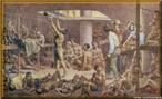 Imagem da gravura de Rugendas, de 1835. O n�mero de escravos embarcados dependia da capacidade da embarca��o. Nas caravelas os portugueses transportavam at� 500 cativos. Um pequeno navio podia transportar at� 200 escravos, um navio grande at� 700.  <br /><br /> Palavras-chave: Navio Negreiro. Embarca��o. Caravelas. Rugendas.