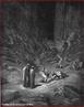 Imagem da ilustra��o de Gustave Dor�, do s�culo XIX, referente ao Canto X de &quot;A Divina Com�dia&quot;. Nesta imagem temos os t�mulos dos her�ticos dentro da cidade de Dite.  A imagem pode ser utilizada para se trabalhar com a obra de Dante Alighieri, especialmente, o &quot;Inferno&quot;, primeiro dos tr�s longos poemas que formam a Com�dia.  <br /><br /> Palavras-chave: Inferno. Poemas. Com�dia. Dante Alighieri. T�mulos.
