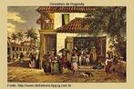 Imagem da obra de Johan Moritiz Rugendas, que mostra uma venda no Recife. Nesta imagem vemos os negros exercendo o com�rcio de frutas com seus tabuleiros. <br /><br /> Palavras-chave: Venda. Negros. Com�rcio. Recife. Rugendas.