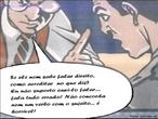 Esta imagem apresenta duas pessoas falando sobre o modo de falar de uma terceira pessoa. A partir desse pequeno fragmento de fala, possível iniciar o trabalho sobre variante linguística e preconceito linguístico. <br /><br> Palavras-chave: Preconceito Linguístico. Variedade da língua. Oralidade. Português.