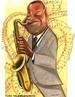 Caricatura de Pixinguinha, um dos maiores compositores da música popular brasileira. <br /><br/> Palavras: Pixinguinha. Choro. MPB. Caricatura.