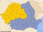 Mada da Romênia (antiga província romana da Dácia) é o único país de língua neolatina do leste europeu.  <br /><br/> Palavras-chave: Mapa. Romênia. Império Romano. Línguas neolatinas.
